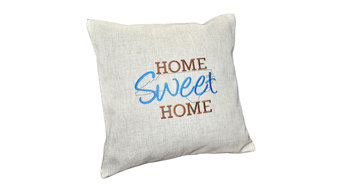 Embroidered State Pillow Cover Home Sweet Home, North Carolina