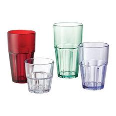 Bahama Tumblers 16 Oz. Drinking Glass Set of 4, Jade
