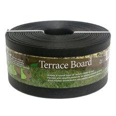 "Master Mark Plastics Terrace Board Lawn and Garden Edging, Black, 5""x40'"