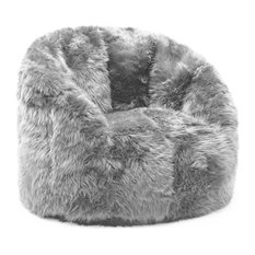Comfort Research   Bean Chair, Gray Shag   Bean Bag Chairs
