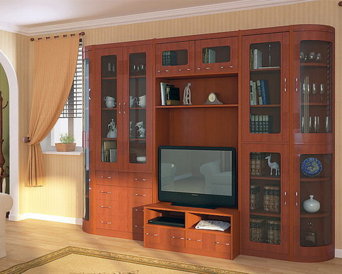 city 6 pc wall unit centers and tv stands