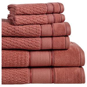 Royale 6-Piece 100% Turkish Cotton Bath Towel Set, Ginger