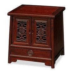 Elmwood Ming Cabinet Dark Cherry Brown