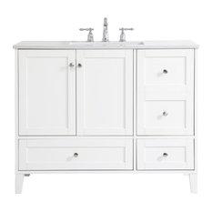 Elegant Decor VF18042WH 42 Inch Single Bathroom Vanity In White