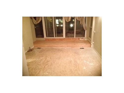 Wood Flooring Layout For Split Level Master Br