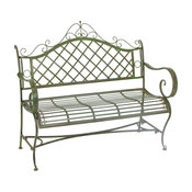 "Iron Garden Bench ""Stephania"", Antique Green"