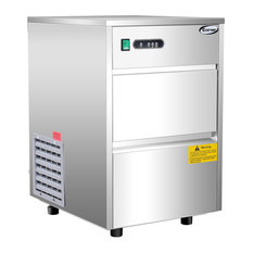 Costway Automatic Ice Maker Stainless Steel 58lbs/24h Commercial Home Use