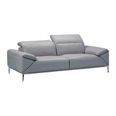 Greta Sofa Light Medium Gray Adjustable Neck Rest And Arm Cushions