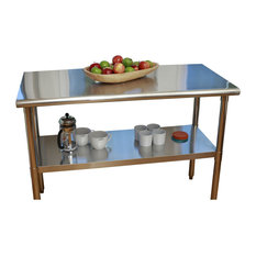 Stainless Steel Top Food Safe Prep Table Utility Work Bench With Adjustable