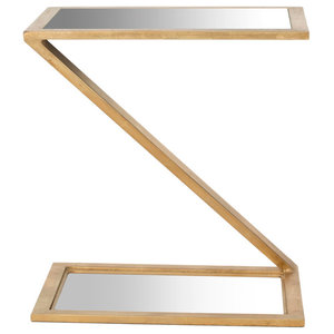 Safavieh Anna Accent Table, Gold and Mirror