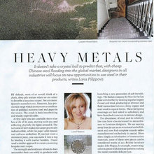 Use of metal in interiors