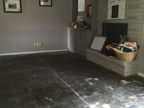 Removed carpet and tile but now worried