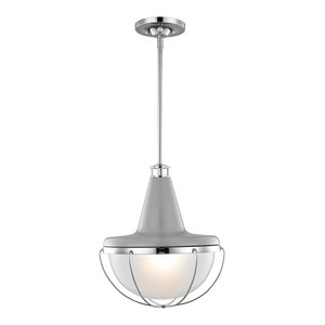 Elegant 1-Light Pendant, Polished Nickel