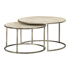 Hammary Furniture   Hammary Cocktail Table With Textured Bronze Base    Coffee Tables