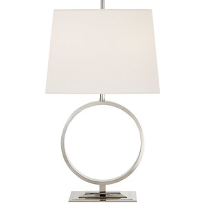 Thomas O'Brien Simone 1 Light Table Lamp in Polished Nickel