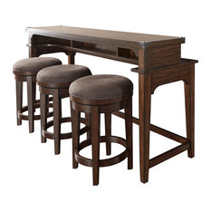 Aspen Skies 4 Piece Console Set With 1-Console 3-Stools