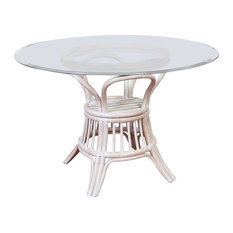 """42"""" Universal Round Dining Table Base In Rustic Driftwood"""