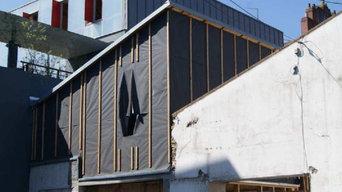 la façade avant le bardage