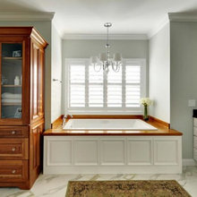Bathrooms with Wood Countertops