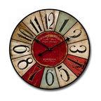 Shabby Chic Multi Colored Wall Clocks