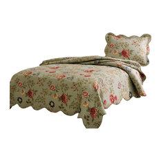 Shop Sage Green Bedspread On Houzz