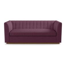 Nora Queen Size Sleeper Sofa, Innerspring Mattress, Amethyst