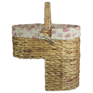 Water Hyacinth Stair Basket With Cotton Lining