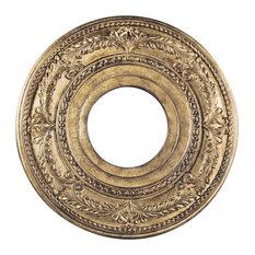 Ceiling Medallion, Hand-Painted Vintage Gold Leaf