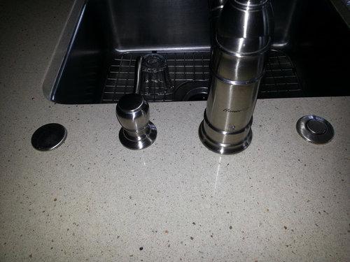 Quartz Counter Faucet Hole Plug