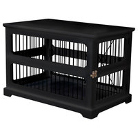 Slide Aside Crate and End Table, Black, Medium