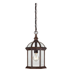 """Boxwood 1 Light - 14"""" Outdoor Hanging With Clear Beveled Glass"""