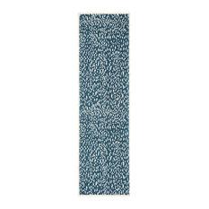 "Safavieh Marbella Mrb657D Geometric Rug, Blue/Ivory, 2'3""x8'0"" Runner"