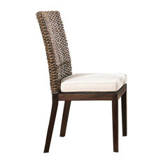 Pelican Reef - Panama Jack Sanibel Side Chair With Cushion in Antique - Set of 2 - Outdoor Dining Chairs