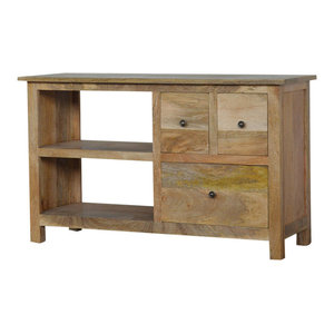 Classic Style TV Stand  with 3 Drawers and Shelf