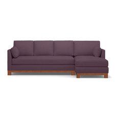 Avalon 2-Piece Sectional Sleeper Sofa, Amethyst, Chaise on Right