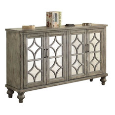 Acme Velika 4 Door Console Table Weathered Gray