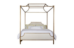 Paramount Metal King Bed With Upholstered Panels