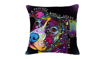 Colorful Dog Cartoon Pillow Case Kaleidoscope Design, 5