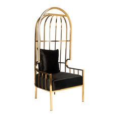 Anika Ballon Chair, Gold