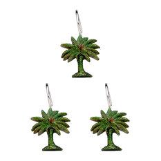 Palm Trees Curtain Hooks 12-Piece