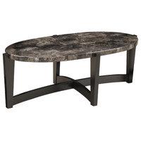 Oval Cocktail Table, Onyx Marble/Ebony