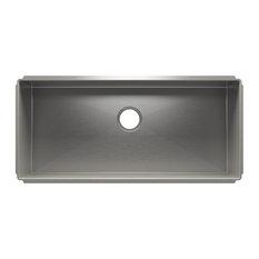 """J7 36""""x16""""x10"""" Single Bowl Sink, Stainless Steel, 37.5""""x17.5""""x10"""""""