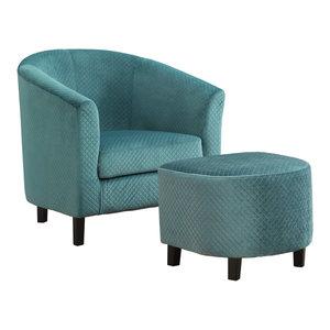 Terrific Accent Chair And Ottoman Charcoal Gray Leather Look 2 Inzonedesignstudio Interior Chair Design Inzonedesignstudiocom
