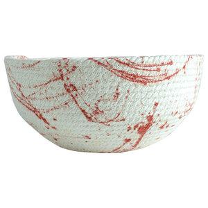Red Splat Decorative Bowl, Small