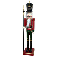 "60"" Red & Green Royal Guard Nutcracker"