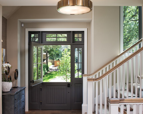 Entryway design ideas, renovations & photos with a dutch front door
