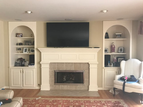 Tv Over Fireplace Too High