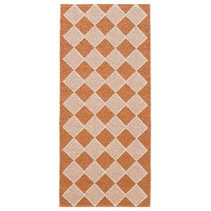 Dialog Woven Vinyl Floor Cloth, Rust, 70x200 cm