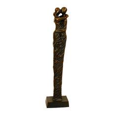 Contemporary Twist Garden Statue, Bronze Effect