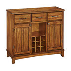 Kincaid Homecoming Solid Wood Open Hutch With Buffet, Vintage Pine - China Cabinets And Hutches ...